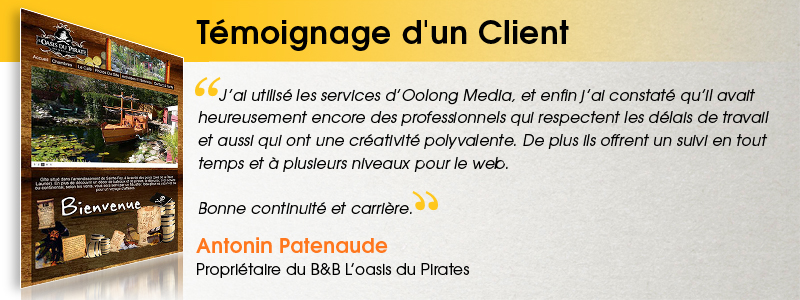 Antonin Patenaude - Propriétaire du B&B L'oasis du Pirate