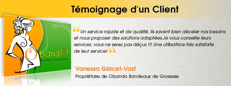 Vanessa Glacet-Vast - Propriétaire de Obando Bandeaux de Grosesse
