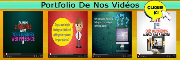 Portfolio de nos vidéos