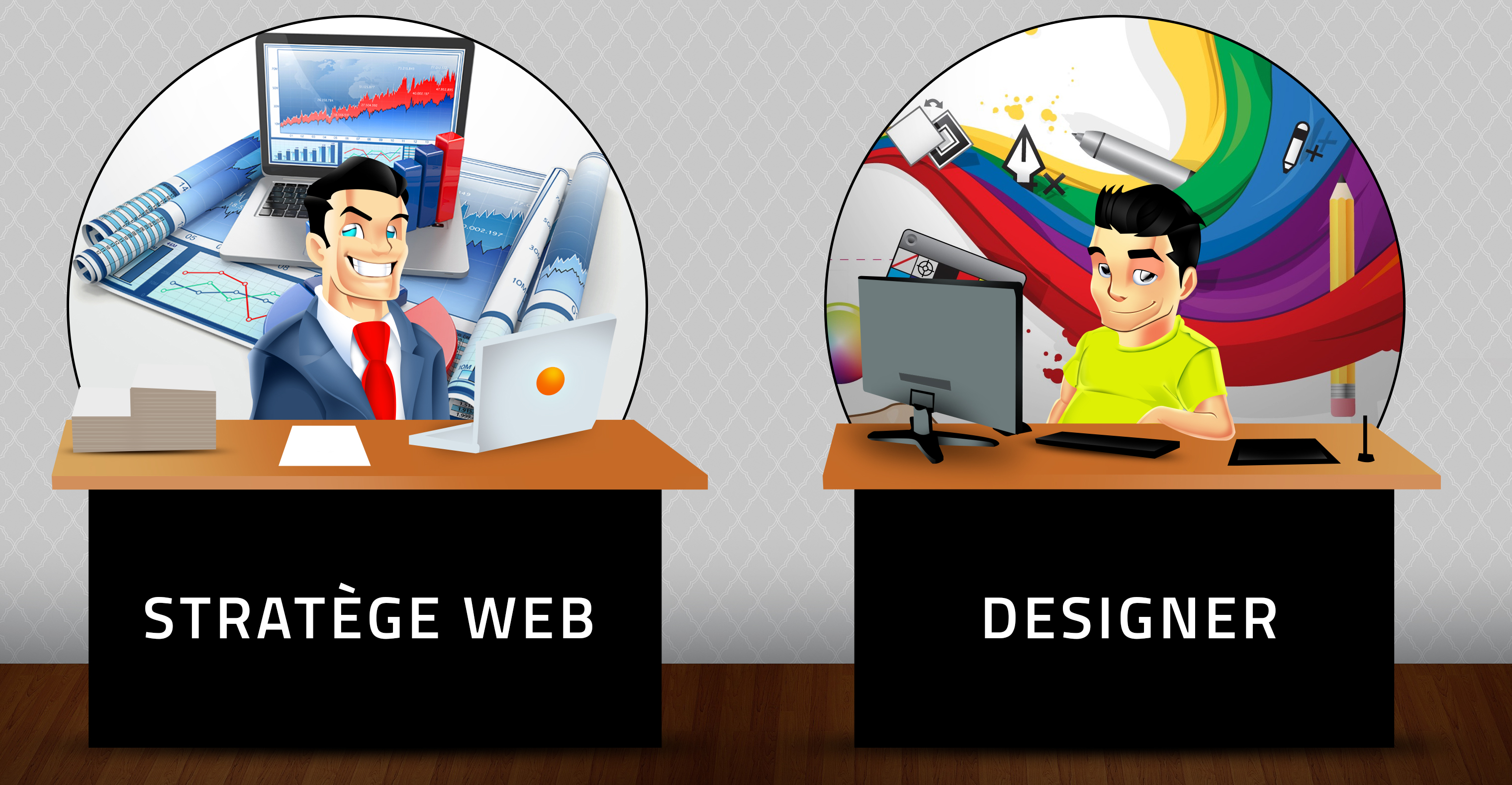 Agence de graphisme et design VS Agence de referencement web stratege web vs designer