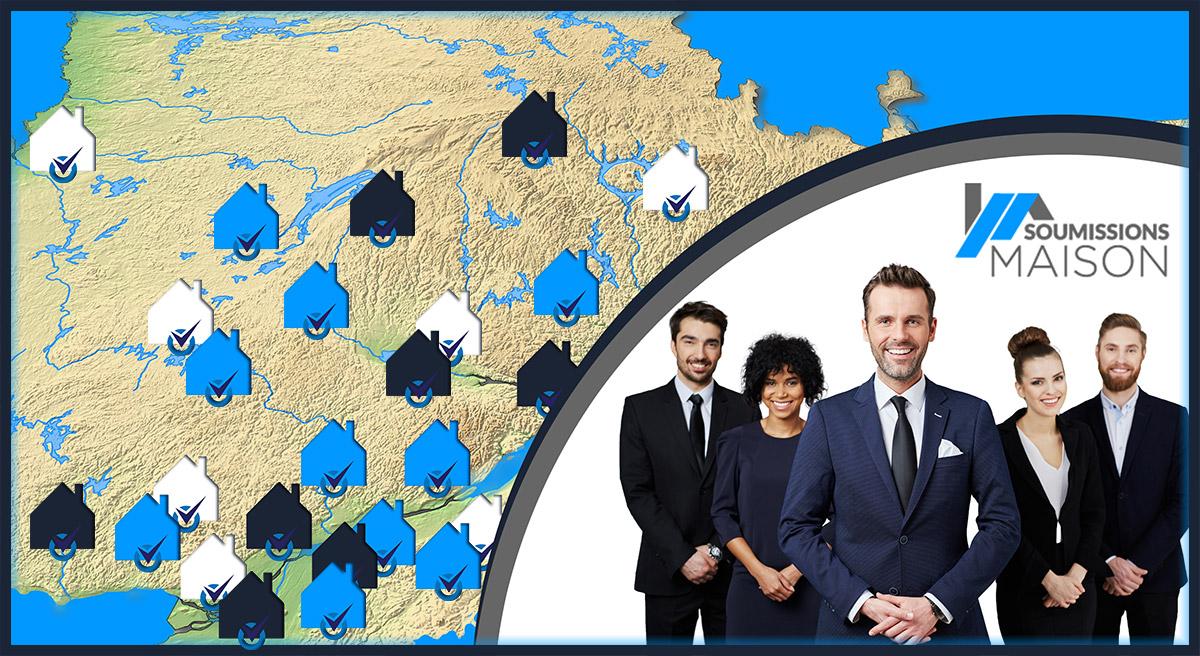 Les partenaires de Soumissions maison desservent tout le Québec.