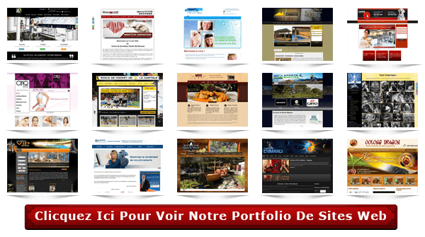 Portfolio de nos sites web